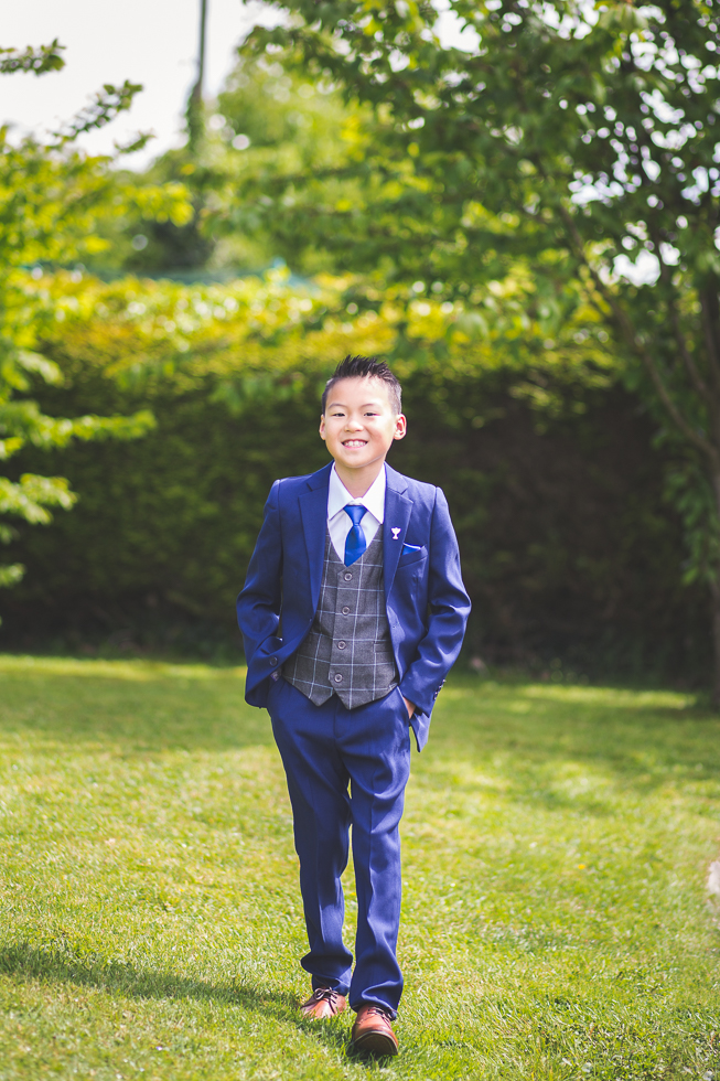 Boy on his First Holy Communion Day